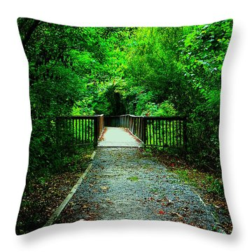 Forest Entrance Throw Pillow by Ester  Rogers