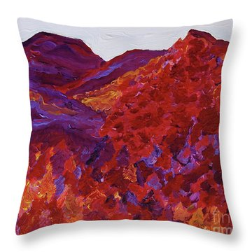 Throw Pillow featuring the painting Forest Fantasy By Jrr by First Star Art