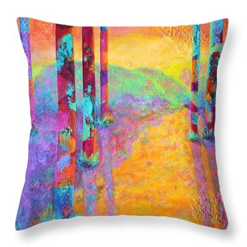 Forest Fantasy Throw Pillow by Nancy Jolley