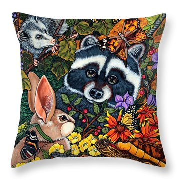 Forest Fantasy Throw Pillow by Sherry Dole