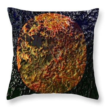 Forest Fireball Throw Pillow
