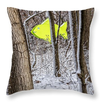 Forest Fish Throw Pillow