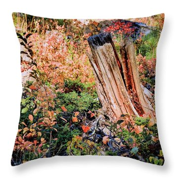Forest Floral Throw Pillow