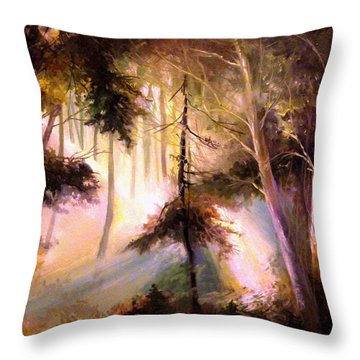 Forest Forest Forest Throw Pillow