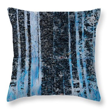 Forest Four Hours Of Daylight Throw Pillow by Graham Dean