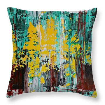 Forest From The Trees Throw Pillow by Izabela Bienko