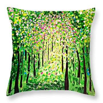 Forest Gifts Throw Pillow