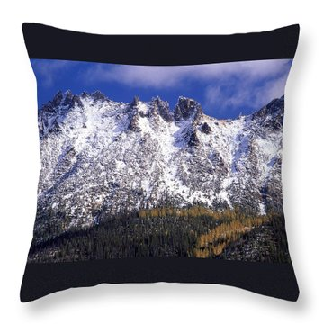 Forest Gold Throw Pillow