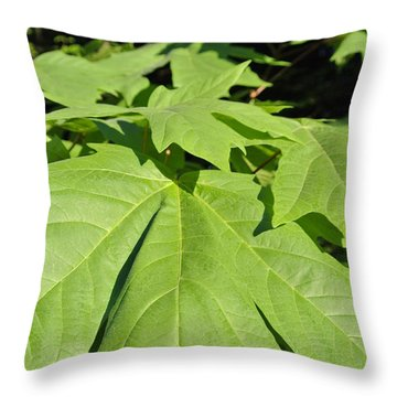 Forest Greens Throw Pillow