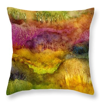 Forest Throw Pillow by Hailey E Herrera