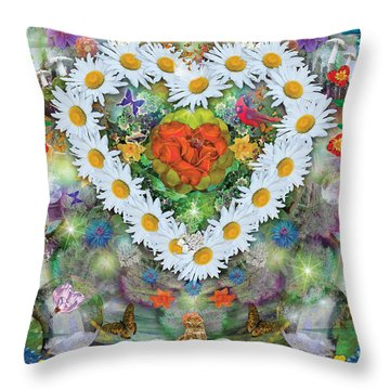 Forest Heart Throw Pillow by Alixandra Mullins