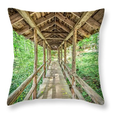 Forest Journey Throw Pillow