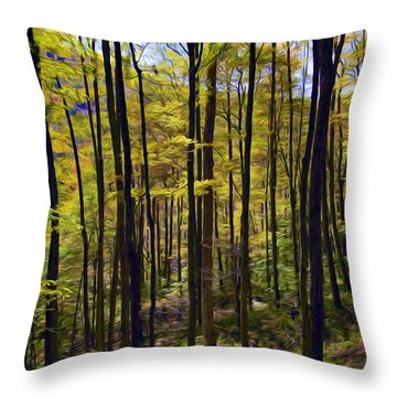 Forest Throw Pillow by Lanjee Chee