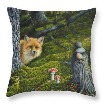 Forest Life Throw Pillow by Veikko Suikkanen