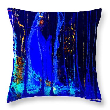 Forest Of A City Throw Pillow