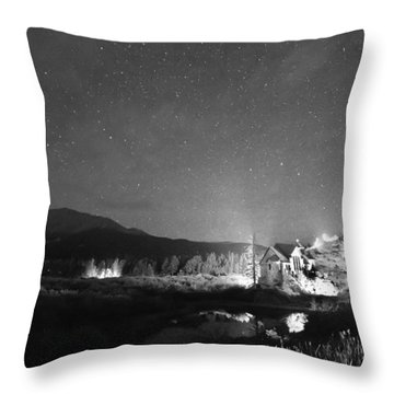 Forest Of Stars Above The Chapel On The Rock Bw Throw Pillow by James BO  Insogna
