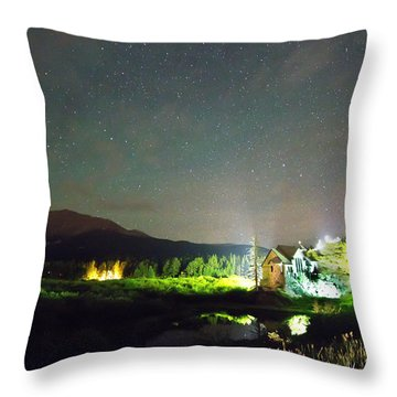 Forest Of Stars Above The Chapel On The Rock Throw Pillow by James BO  Insogna