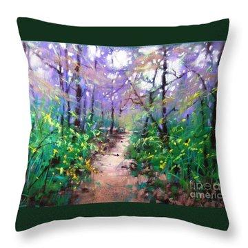 Forest Of Summer Throw Pillow