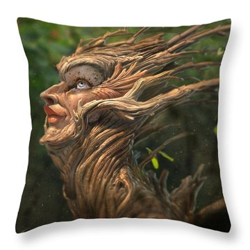 Forest Queen Throw Pillow by Aaron Blaise