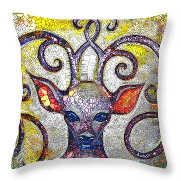 Throw Pillow featuring the painting Forest Spirit by Agata Lindquist