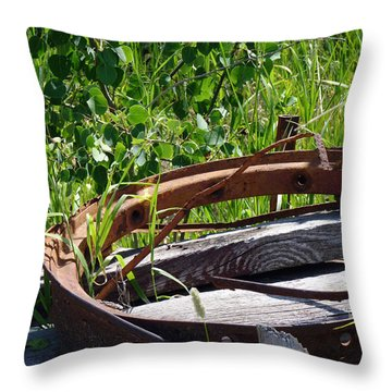 Throw Pillow featuring the photograph Forest Takeover by Meghan at FireBonnet Art
