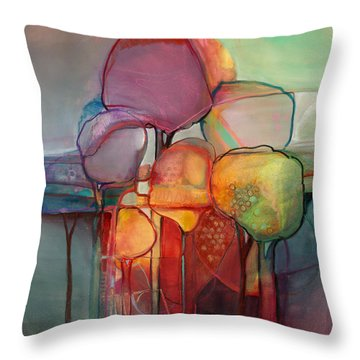 Forest Through The Trees Throw Pillow by Michelle Abrams