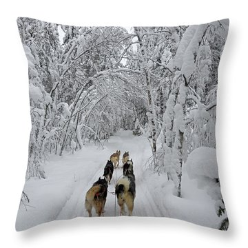 Forest Tour Throw Pillow by Arik Baltinester