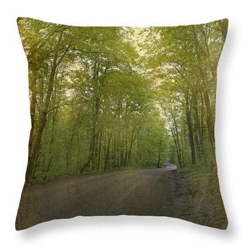 Forest Tranquility... Throw Pillow by Nina Stavlund