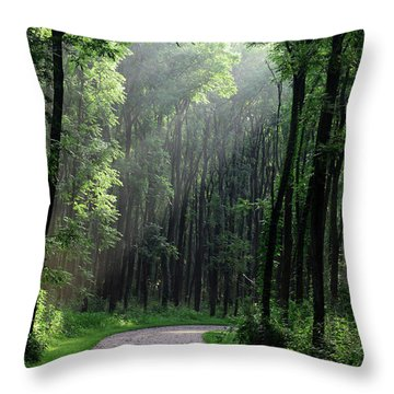 Forest Walk Throw Pillow