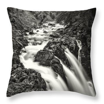 Forest Water Flow Throw Pillow