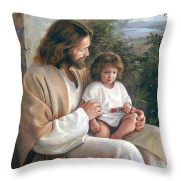 Throw Pillow featuring the painting Forever And Ever by Greg Olsen