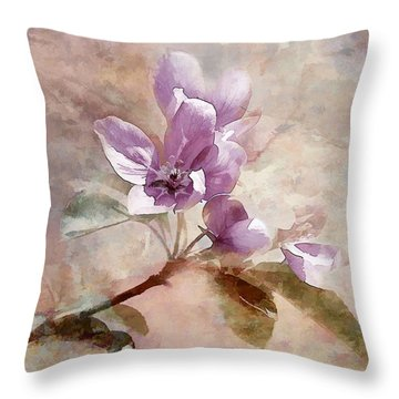Throw Pillow featuring the photograph Forever Blossom by Elaine Manley