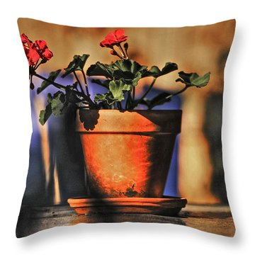 Throw Pillow featuring the photograph Forever Flower by Kandy Hurley