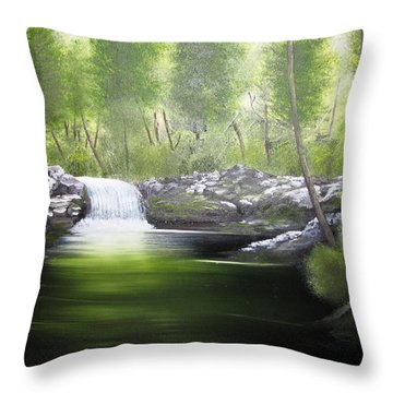 Forever Green Throw Pillow by Kevin F Heuman