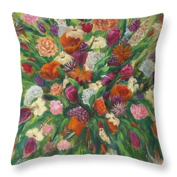 Forever In Bloom Throw Pillow