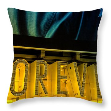 Forever Throw Pillow by Karol Livote