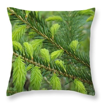 Forever Lime Green Throw Pillow