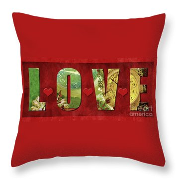 Forever Love #2 Throw Pillow by Claudia Ellis