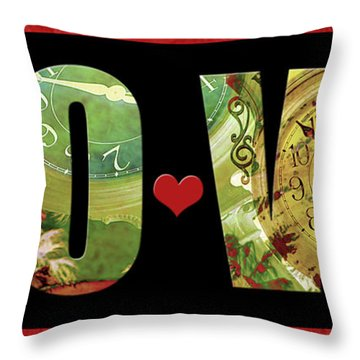 Forever Love Throw Pillow by Claudia Ellis