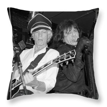 Throw Pillow featuring the photograph Forever Rock N Roll Young by Steven Macanka