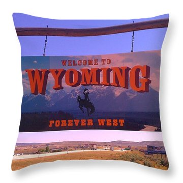 Throw Pillow featuring the photograph Forever West by Chris Tarpening
