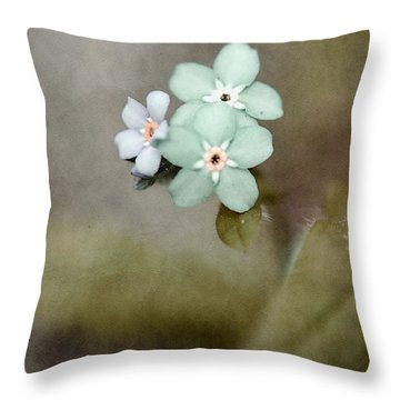 Forget Me Not 03 - S07bt07 Throw Pillow by Variance Collections