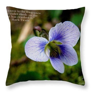 Forgiveness Throw Pillow by Lainie Wrightson