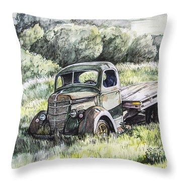Forgotten Throw Pillow by Aaron Spong