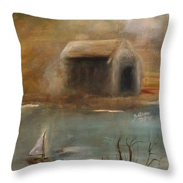 Throw Pillow featuring the painting Forgotten by Barbie Batson