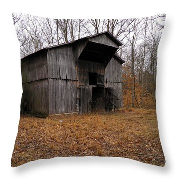 Throw Pillow featuring the photograph Forgotten Barn by Nick Kirby