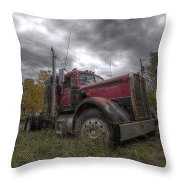Semi Truck Throw Pillows