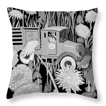 Throw Pillow featuring the drawing Forgotten by Carol Jacobs