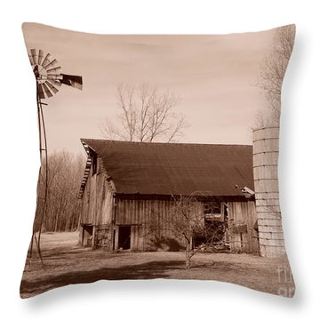 Forgotten Farm Throw Pillow by Judy Whitton