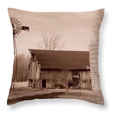 Forgotten Farm Throw Pillow by Judy Whitton